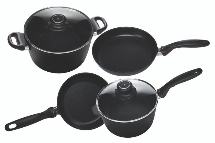 XD Induction 6 Piece Set: Fry Pan, Sauce Pan & Soup Pot