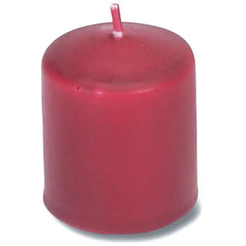 Unscented 12 Hour Votive Candle, 30/Pkg, Red