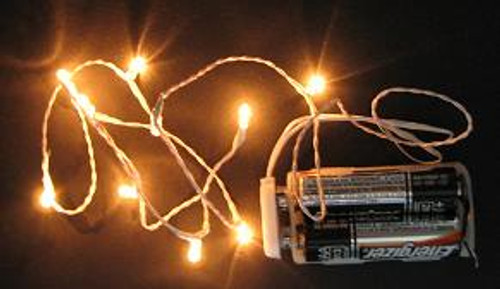 10 Lights on 30 Inch Single Wire (Green or White Wire)