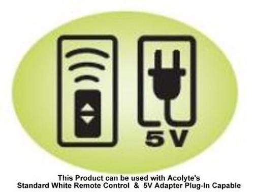 E-Mini Luminator Light Base 4-Inch Battery Operated - Remote Control Capable