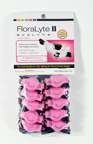 acolyte floralyte II pink pack of 10