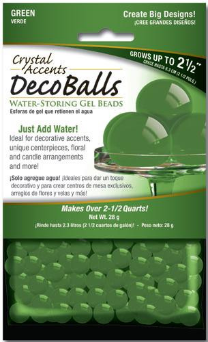 Crystal Accents Deco Balls 1 oz Retail Pack Green
