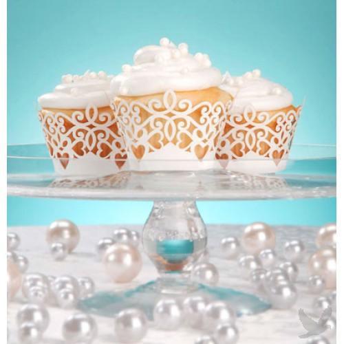 24pc Pearl Finish Laser Cupcake Wrap