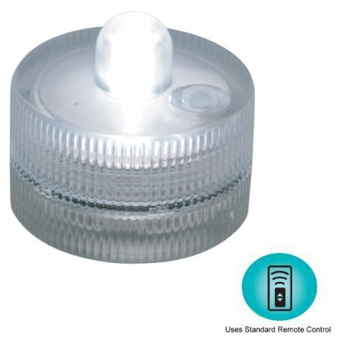 SUMIX-1F White Submersible LED Lights 3 Lighting Modes - 10 per box - Remote Control Capable