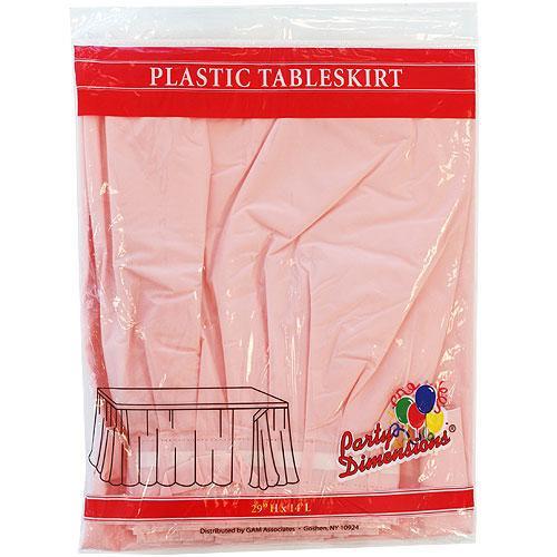 Plastic Table Skirts Light Pink