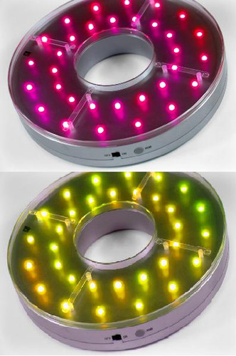 E-Maxi MultiColor Centerpiece Light Base 8-Inch 32 LED - Remote Control Capable