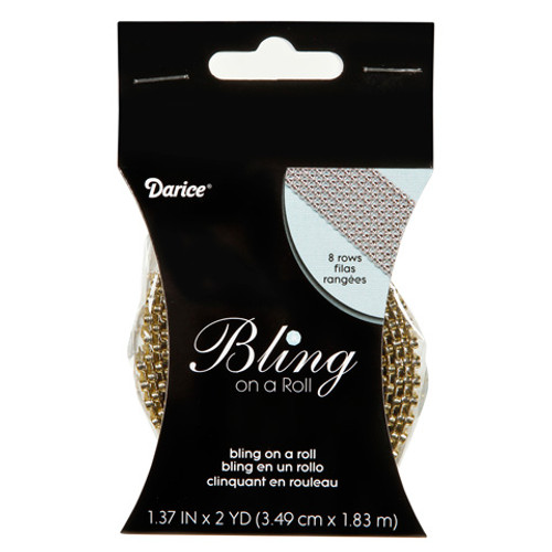 Gold Mesh Bling on a Roll - 3mm x 8 rows
