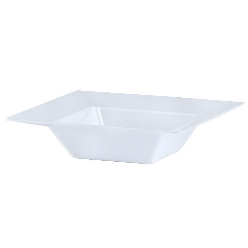 Plastic Squares 5 oz Bowl White - 10 Ct.