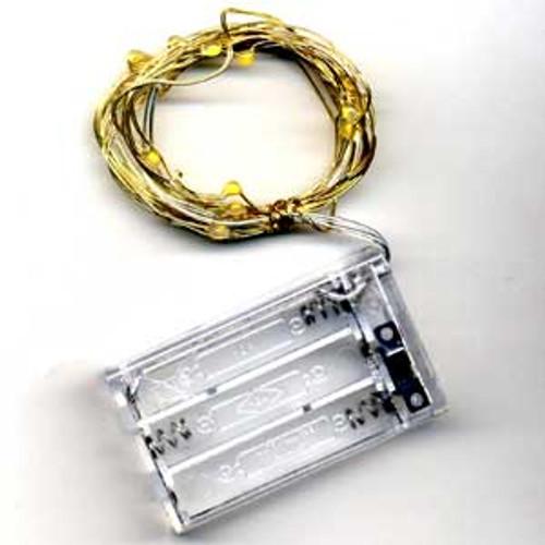 David Tutera Bridal Lights 6 ft. Gold Wire 20 Lights