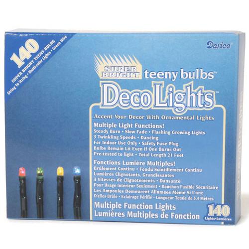 Multiple Function Teeny 140-Bulb Light Set, Multicolored