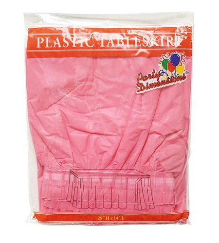 Plastic Table Skirts Hot Pink