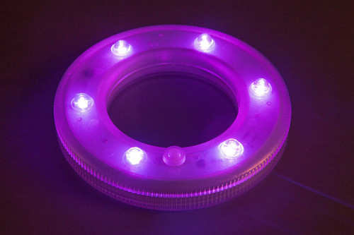 Lyte Ring 6 inch, w/6 Superbright SMT LED (Multi-Colored) Remote Included