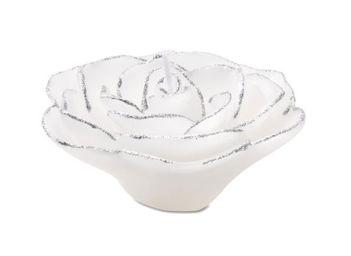 Rose Wax Floater White w/ Silver Glitter