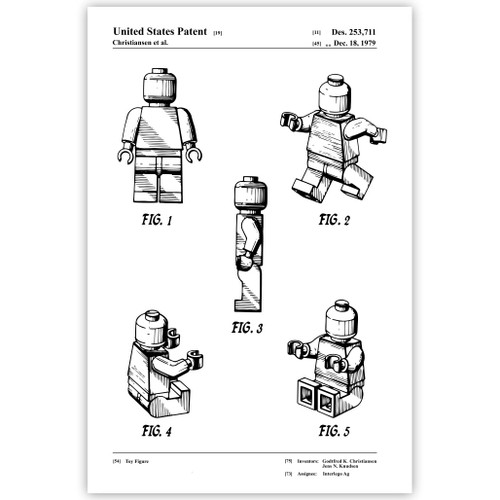 Toy Figure Patent Poster Print