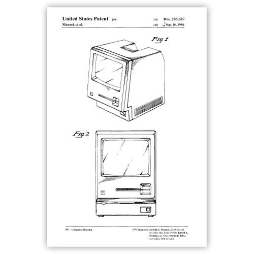 Computer Housing (1986) Patent Poster Print