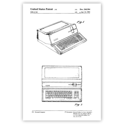 First Generation Micro Computer Patent Poster Print