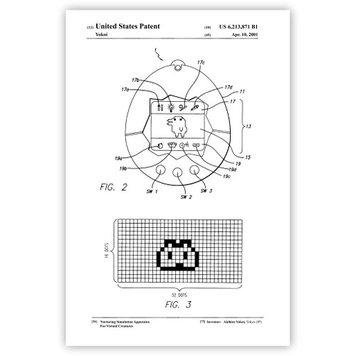 Virtual Pet Patent Poster Print
