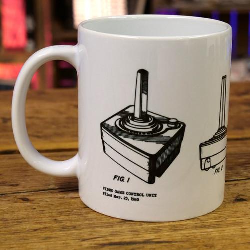 Video Game CX40 Joystick Patent Print Mug