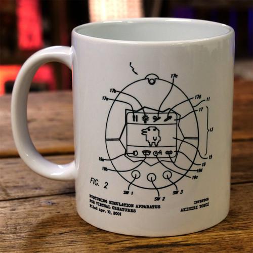 Virtual Pet Patent Print Mug