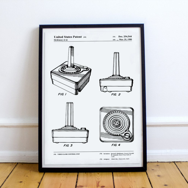 Video Game CX40 Joystick Patent Poster Print