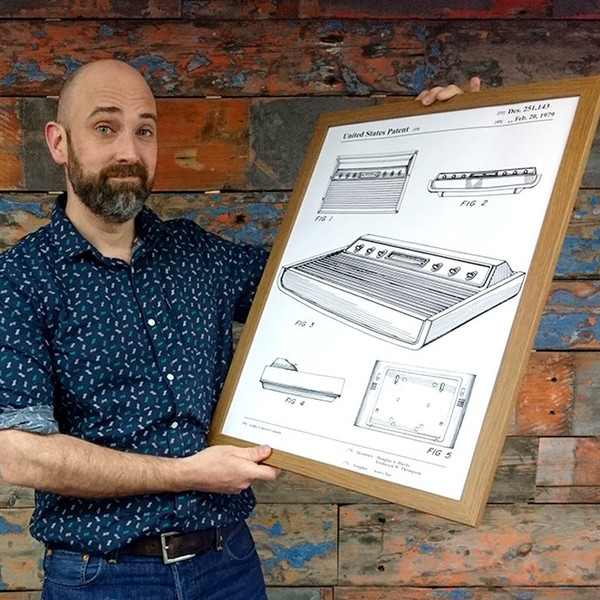 1970s Video Game Console Patent Poster Print