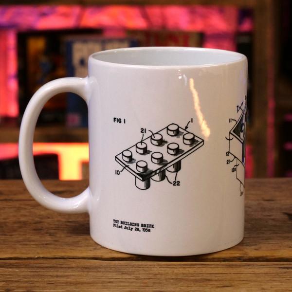 Toy Building Brick Patent Print Mug