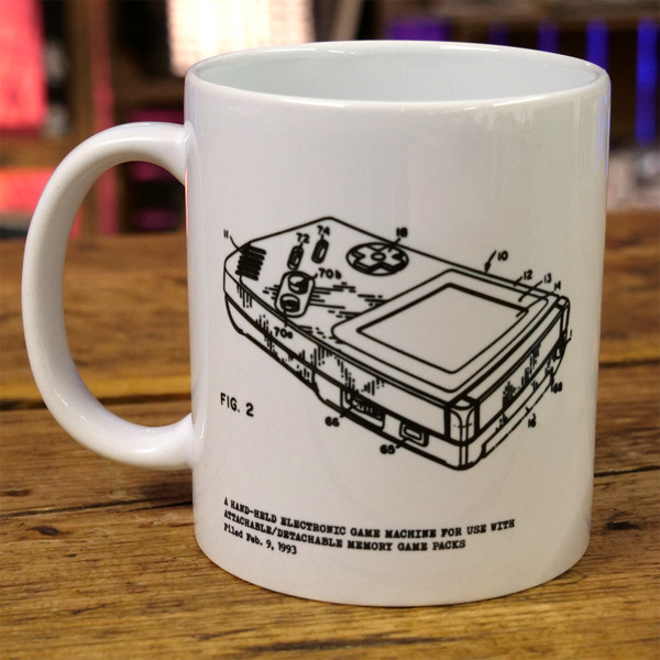 Handheld Video Game Console Patent Print Mug