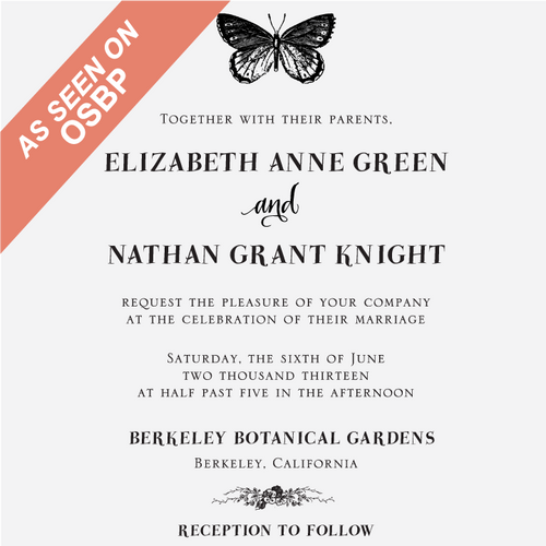 """""""Butterfly"""" Invitation Stamp"""