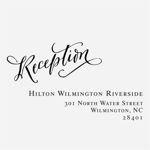 """Signature Calligraphy"" Reception Card Stamp"