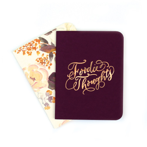 A2 Notebook Set, Eggplant and Annabelle Floral