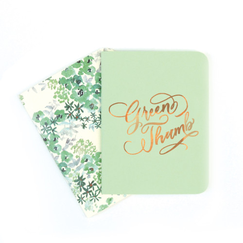 A2 Notebook Set, Mint and Paloma Floral
