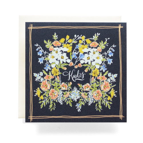Handkerchief Kudos Greeting Card, Navy