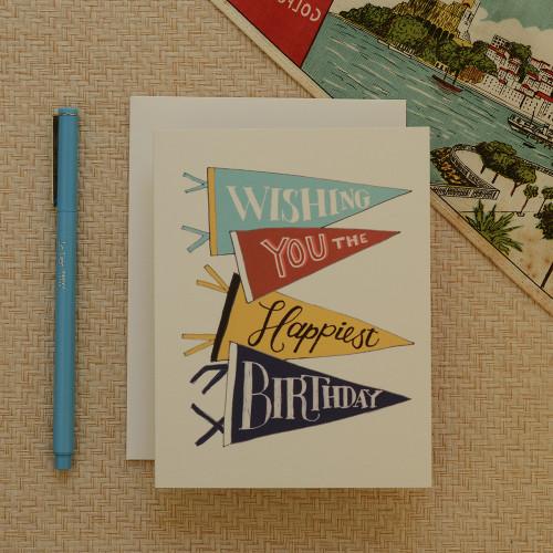 Pennant Happy Birthday Greeting Card