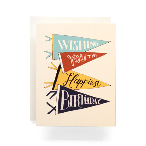 Pennant Happy Birthday Greeting Card