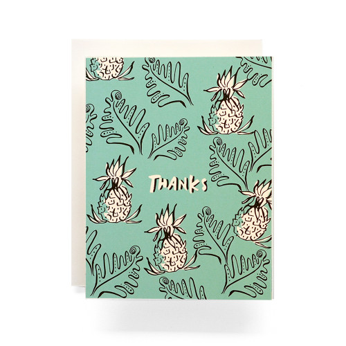 Pineapple Thanks Greeting Card