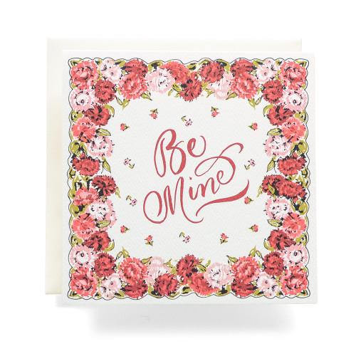 Handkerchief Be Mine Greeting Card