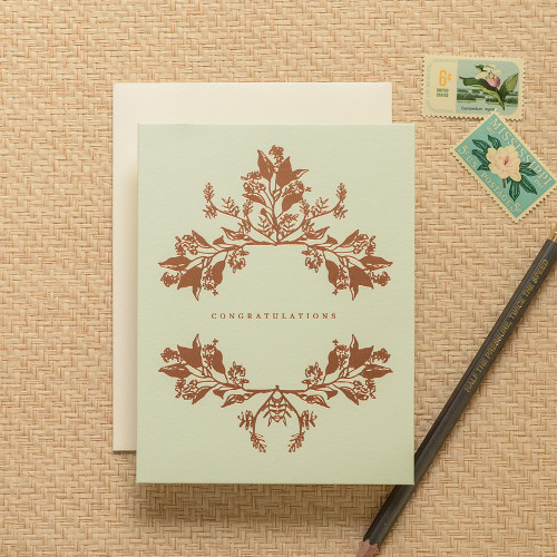 Botanical Wreath Congratulations Greeting Card