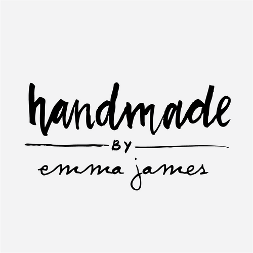"""""""Handmade by"""" Brushed Lettering Rubber Stamp"""