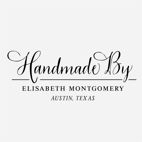 """""""Handmade by"""" Vintage Calligraphy Rubber Stamp"""