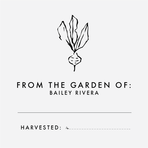 """From the Garden of"" Rubber Stamp"