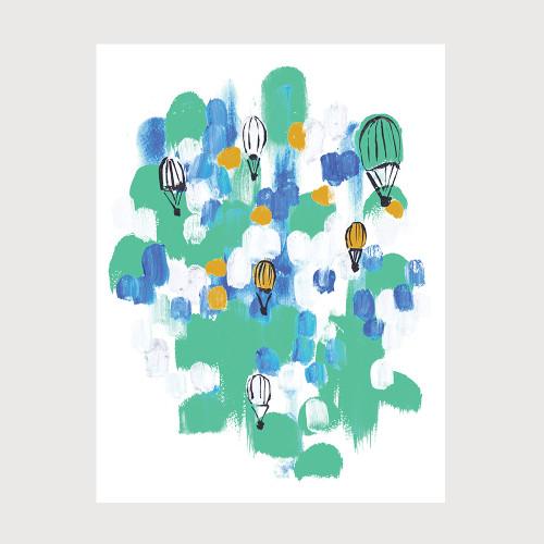 Parachutes Art Print