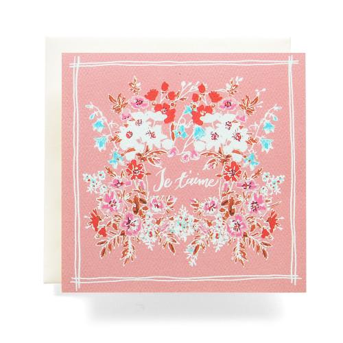 Handkerchief Je t'aime Greeting Card