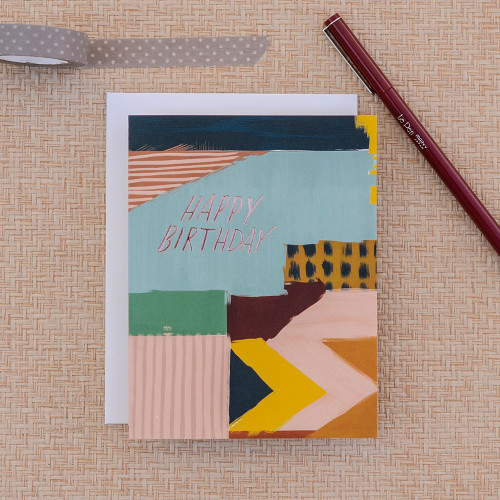 Abstract Birthday Greeting Card