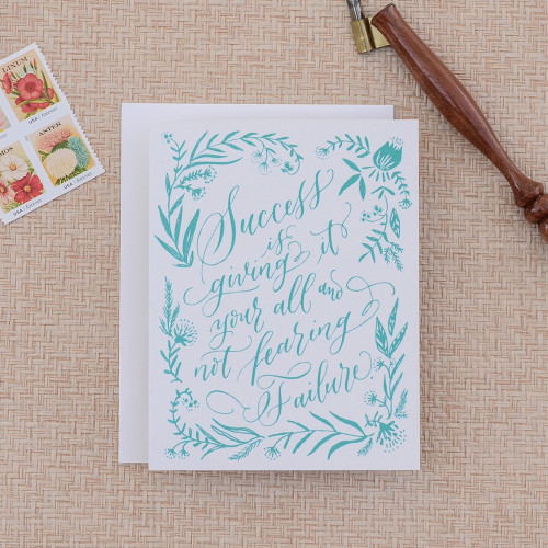 Calligraphy Success Greeting Card