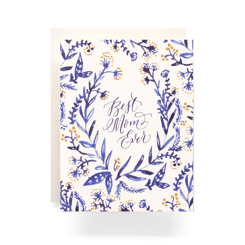 Cobalt & Canary Mothers Day Greeting Card