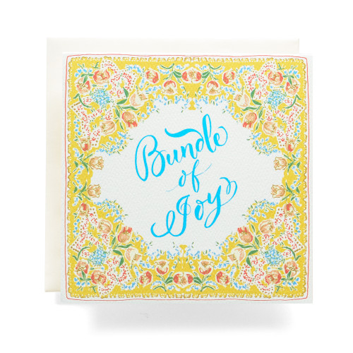 Handkerchief Bundle of Joy Greeting Card