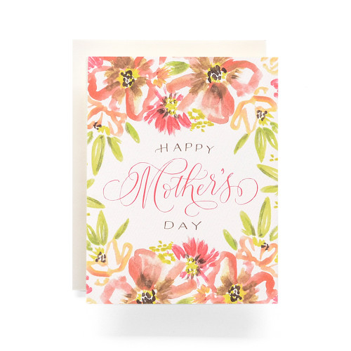 Mothers Day Bouquet Greeting Card