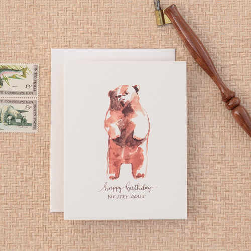 Sexy Beast Birthday Greeting Card