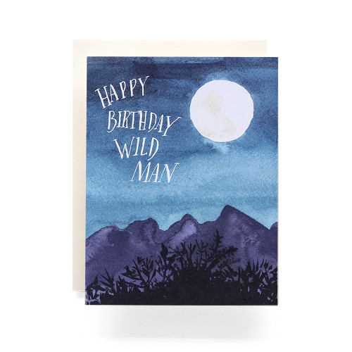 Wild Man Birthday Greeting Card