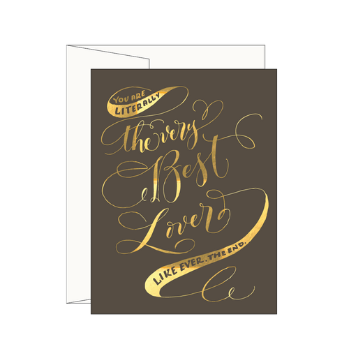 Best Lover Greeting Card, Smoke